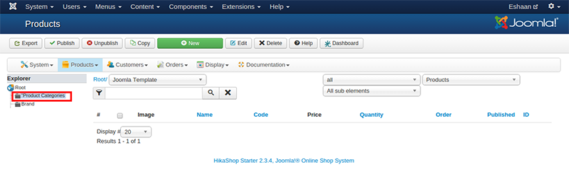 Categorie Produit Extension site web e commerce Joomla