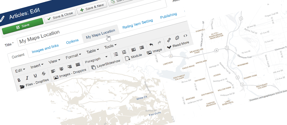 joomla article location